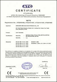 CE Certificate for GPS Vehicle Trackers thumb